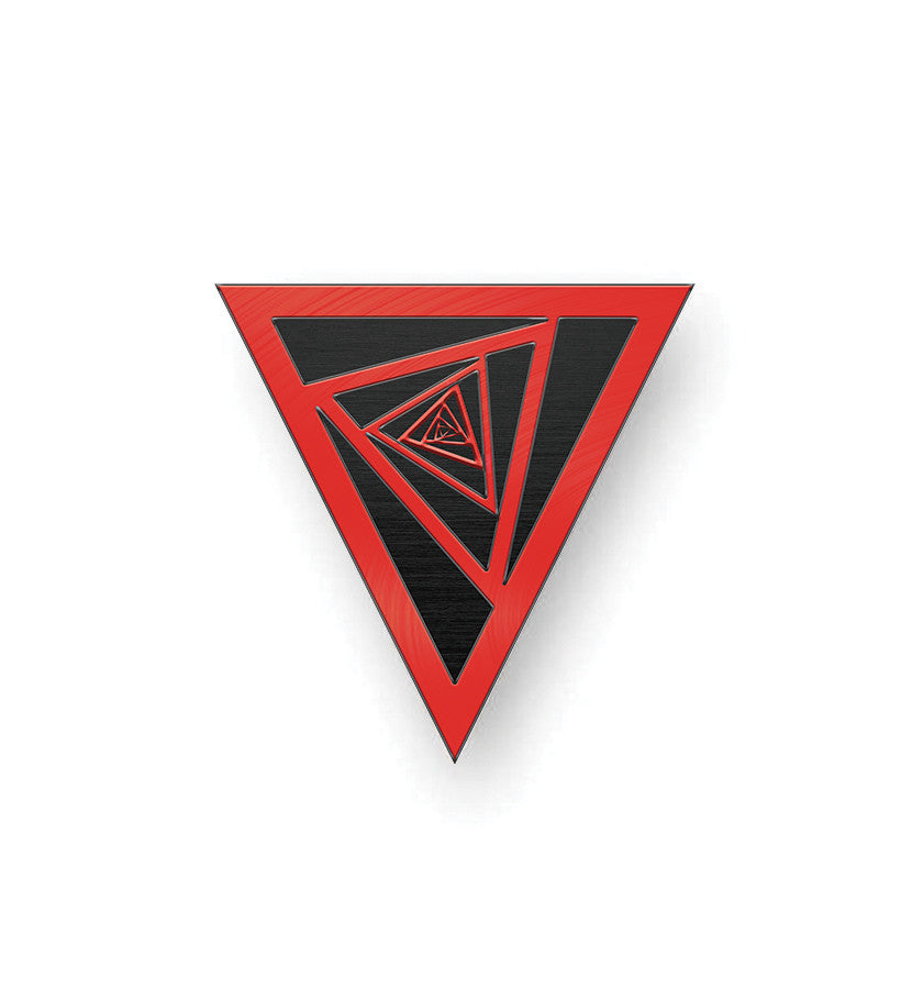 Cathedrals of Glass Dizzy Triangle Lapel Pin - To The Stars