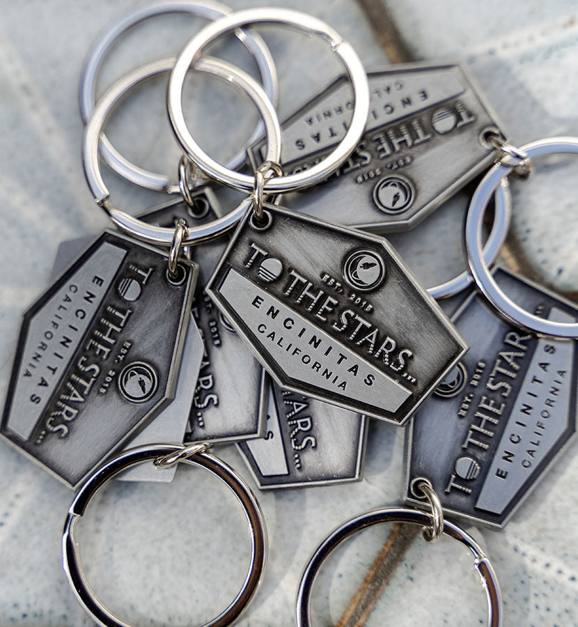 Established Raised Metal Keychain
