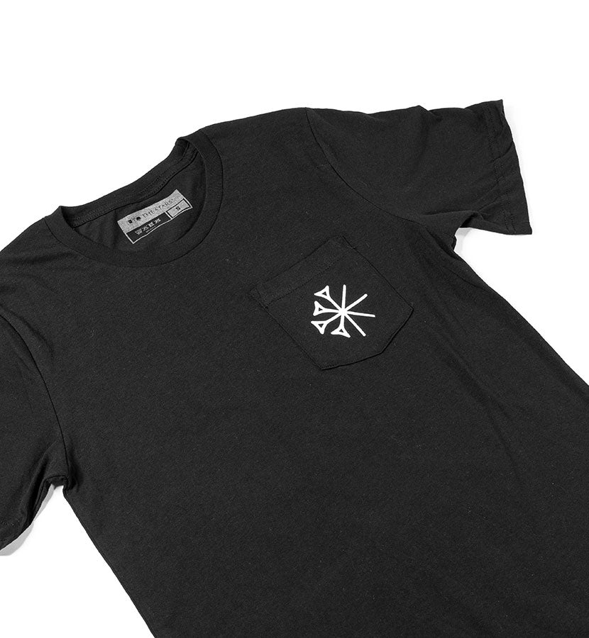 Gods Star Pocket T-Shirt Black