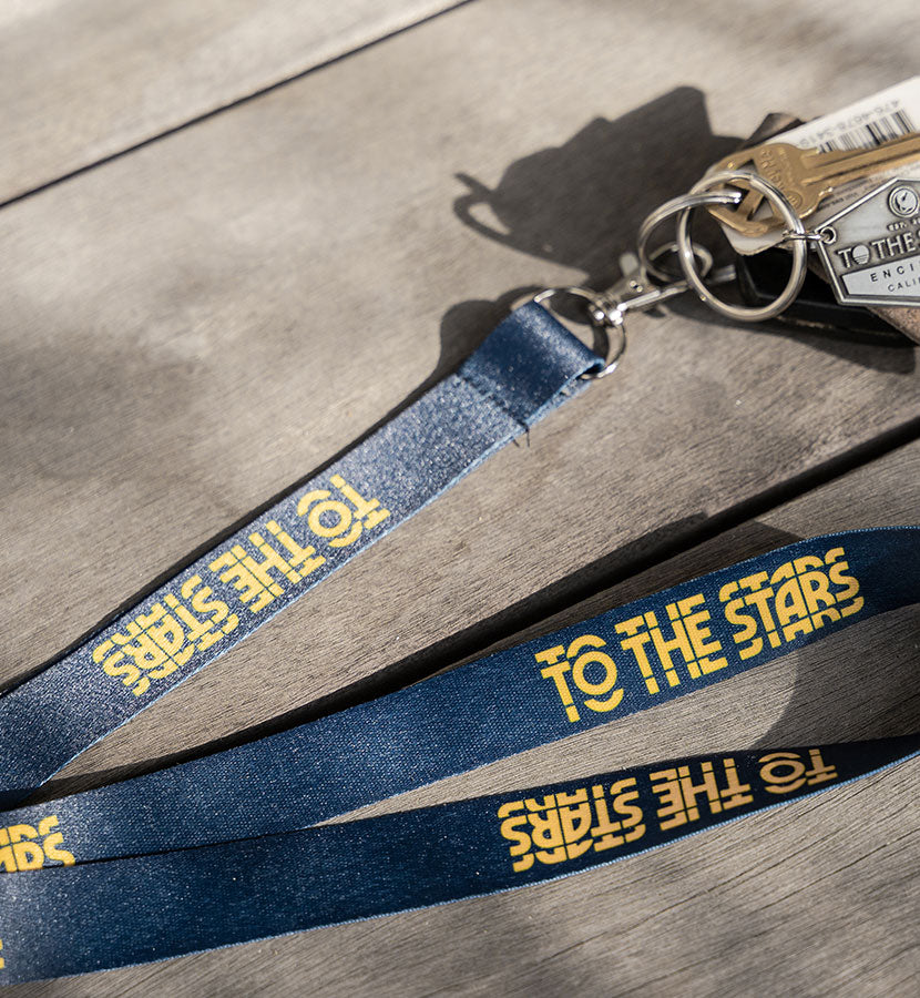 Glitch Lanyard Navy/Gold