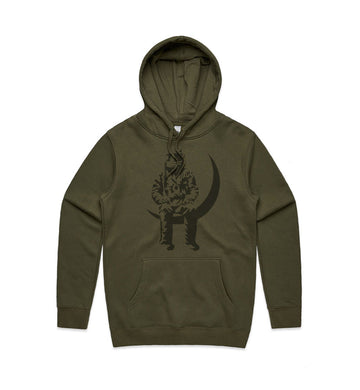 Angels and Airwaves Moon Man Premium Unisex Pullover Hoodie Army