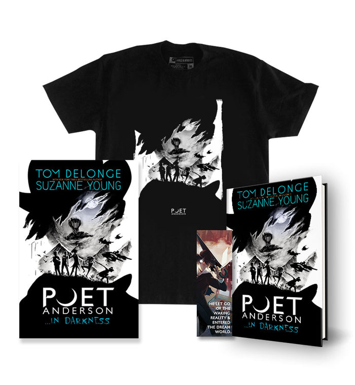 Poet Anderson ...In Darkness Hardcover + Poster + Bookmark + T-Shirt Black - To The Stars...