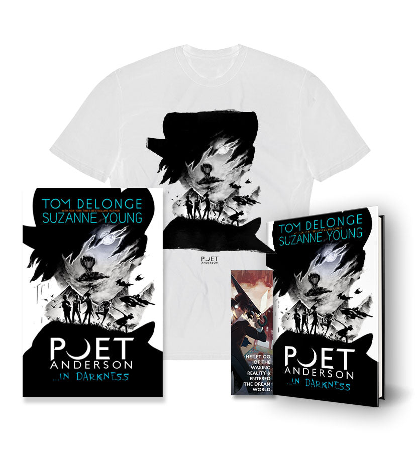 Poet Anderson ...In Darkness Hardcover + Poster + Bookmark + T-Shirt White - To The Stars...