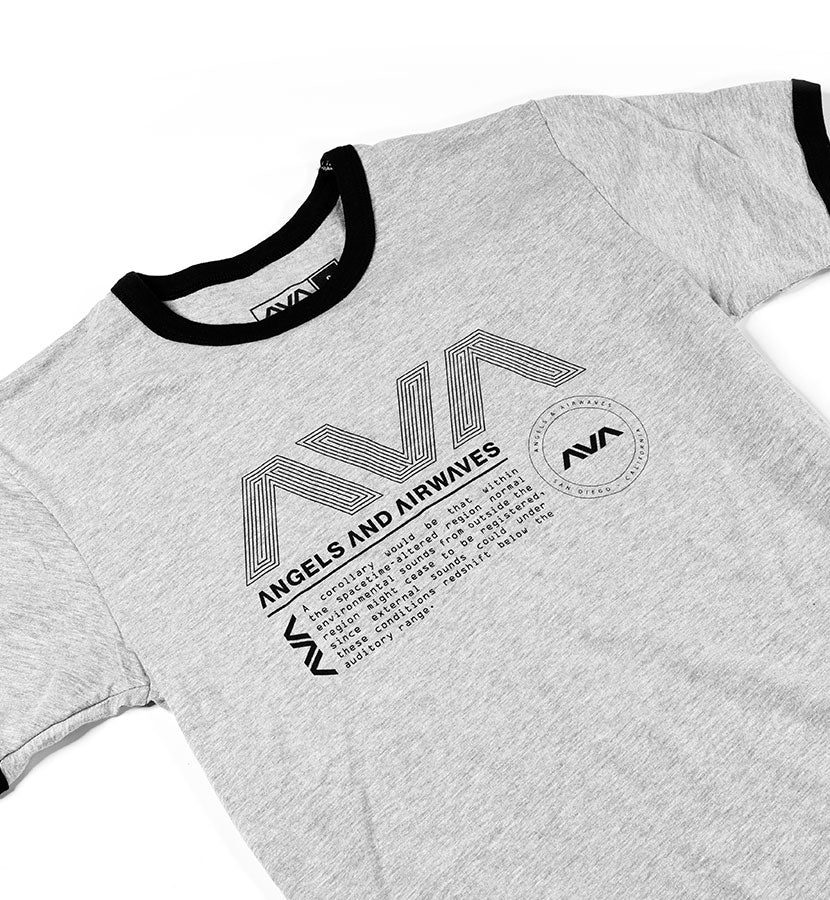 Data Package Ringer T-Shirt Black/Heather Gray