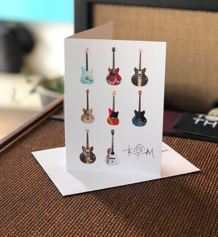 Guitar Collection Greeting Card
