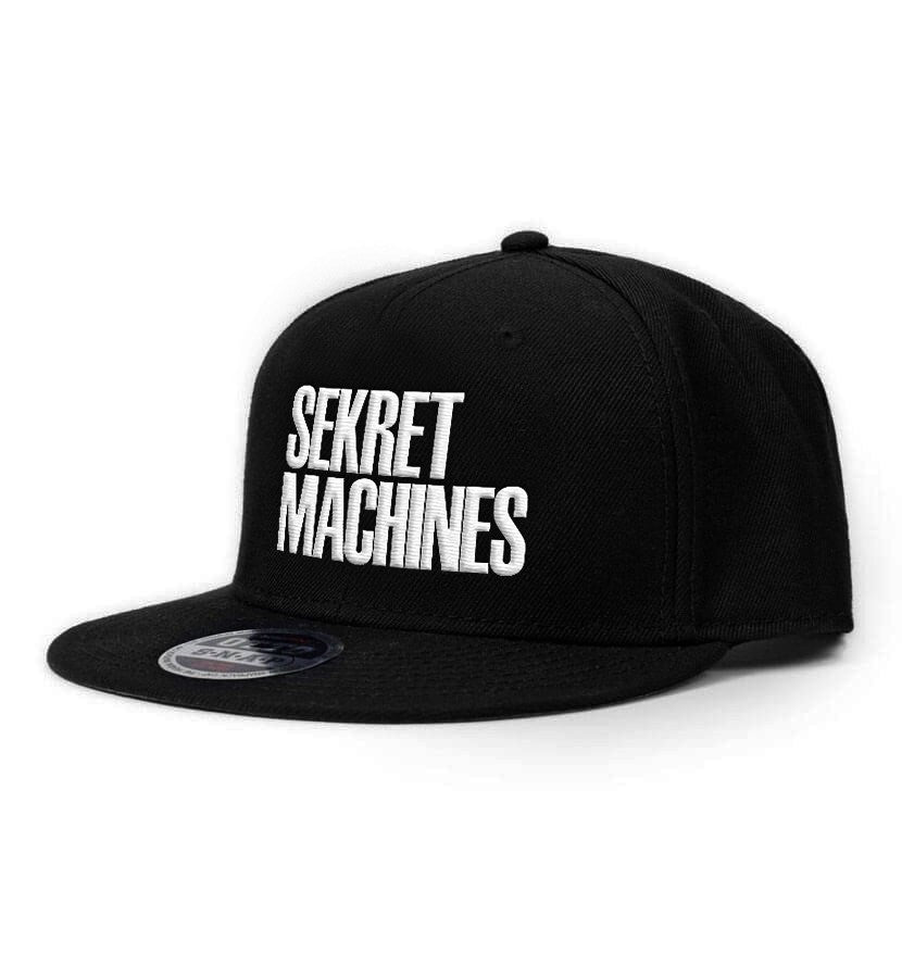 Sekret Machines Block Letter Logo Snapback Hat Black - To The Stars...