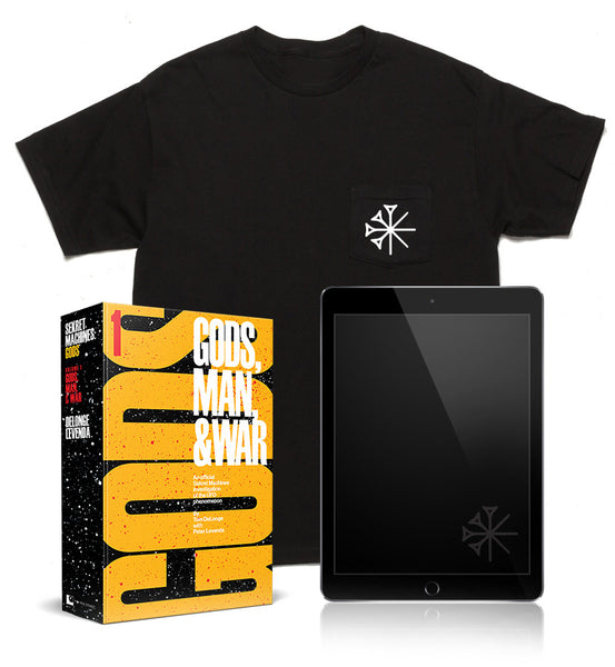 Gods Hardcover + Diary eBook + T-Shirt