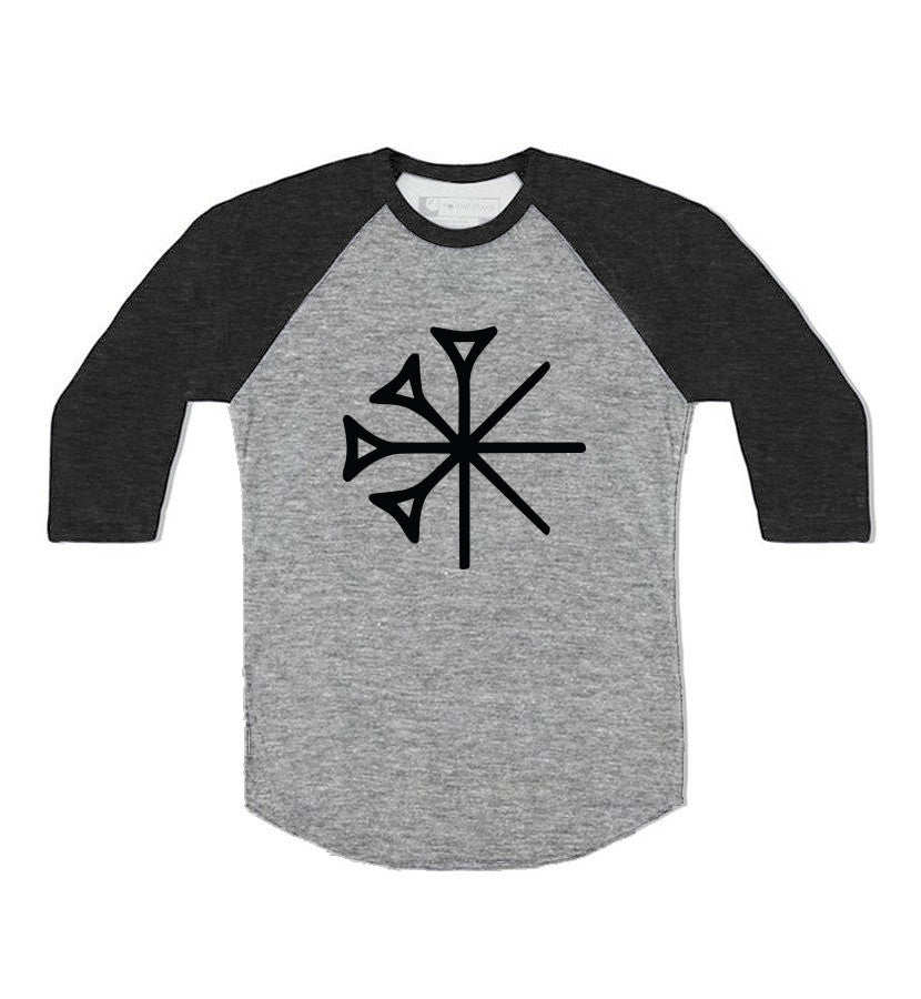 Sekret Machines Gods Star Unisex Raglan Deep Heather/Black - To The Stars