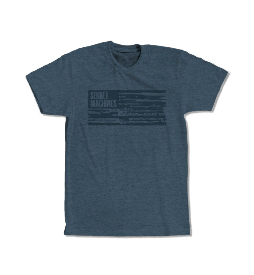 Redacted Flag T-Shirt Indigo