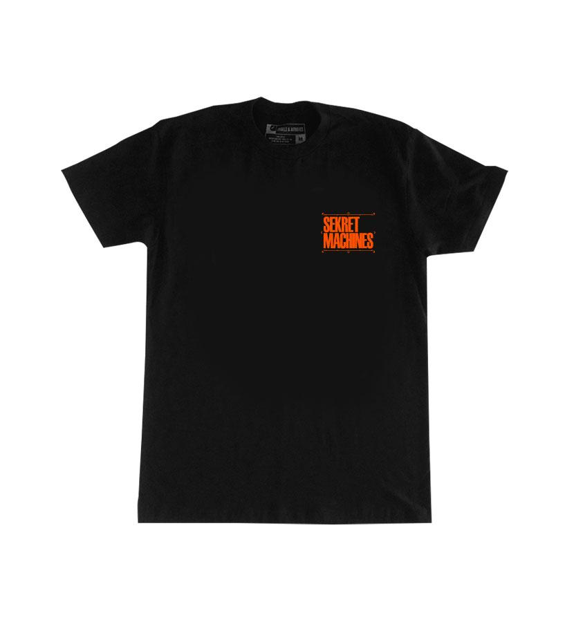 Sekret Machines UAP T-Shirt Black/Orange Front