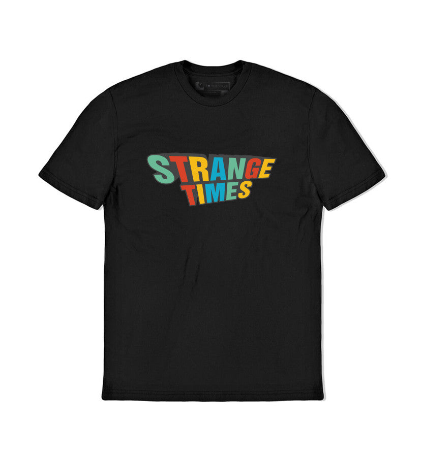Strange Times Stacked Logo T-Shirt Black - To The Stars...