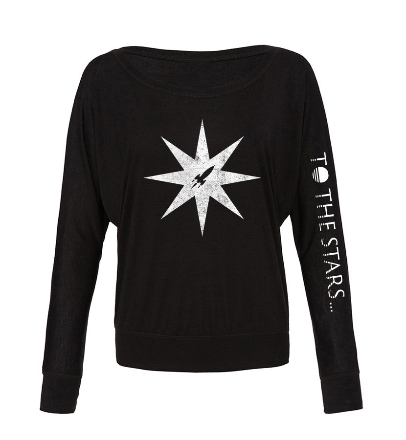 To The Stars Inc. Star Off Shoulder L/S Women's T-Shirt - To The Stars - 1
