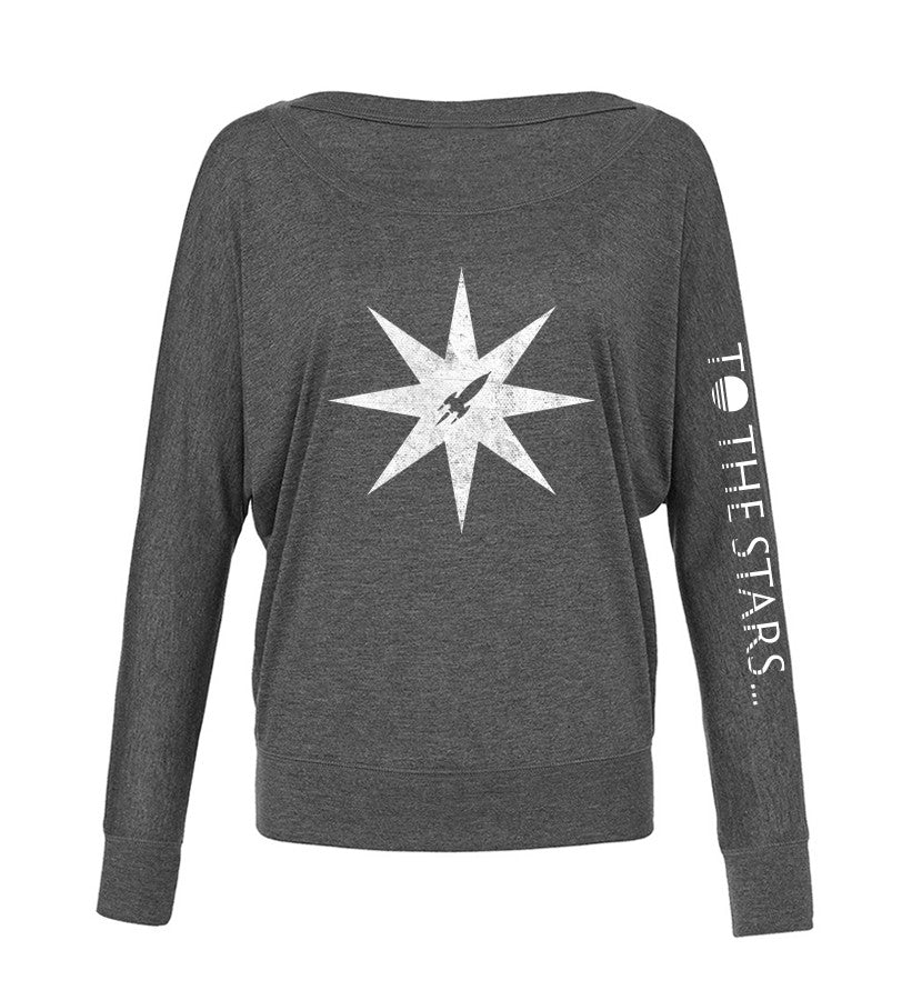 To The Stars Inc. Star Off Shoulder L/S Women's T-Shirt - To The Stars - 3