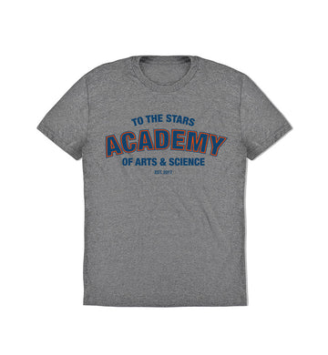 To The Stars... Academy Of Arts & Science Collegiate T-Shirt Heather Grey