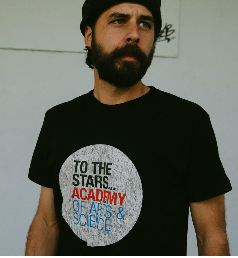 b404d8925 To The Stars... Academy Of Arts & Science Text Logo T-Shirt – To The ...