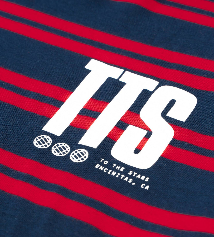 Acronym Striped T-Shirt Navy/Red