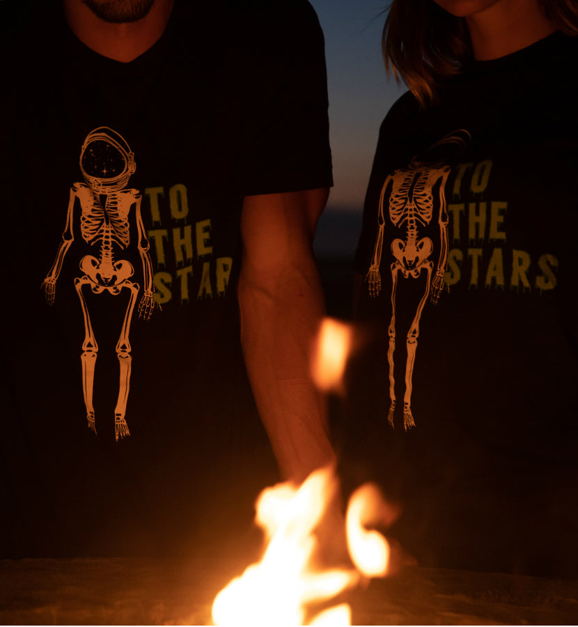 To The Stars... Astronaut X-Ray T-Shirt Black - To The Stars...