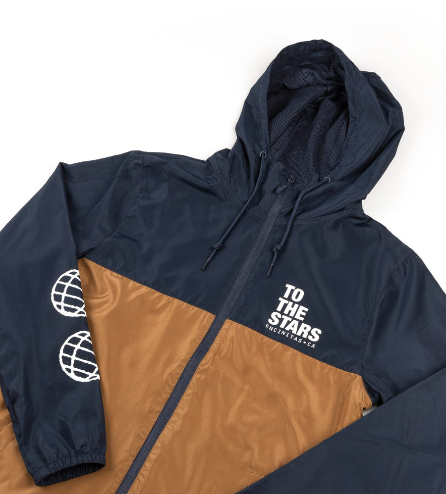 Bold Windbreaker Jacket Navy/Saddle