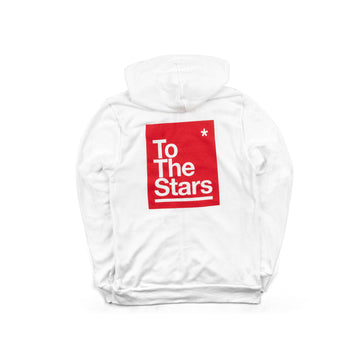 Box Zip-Up Hoodie White