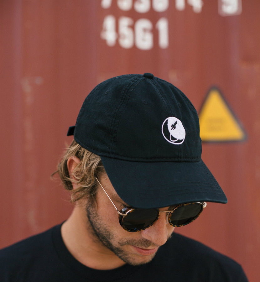 To The Stars... Circle Logo Dad Hat Black - To The Stars...
