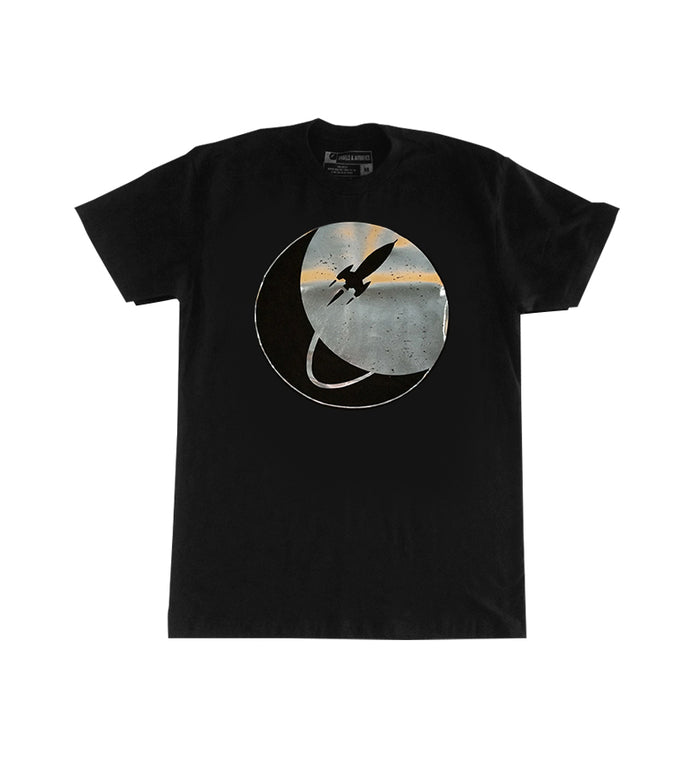 To The Stars... Circle Logo Foil T-Shirt Black/Silver - To The Stars...