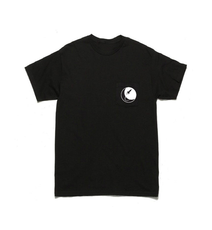To The Stars... Circle Logo Pocket T-Shirt Black/White - To The Stars...