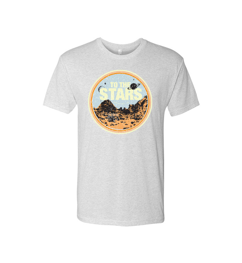 To The Stars... Desert Landscapes T-Shirt Heather White - To The Stars...