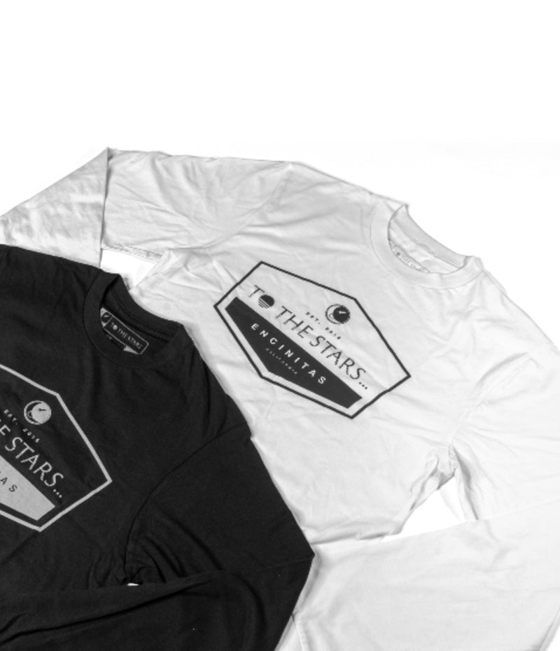 Established L/S T-Shirt White/Black