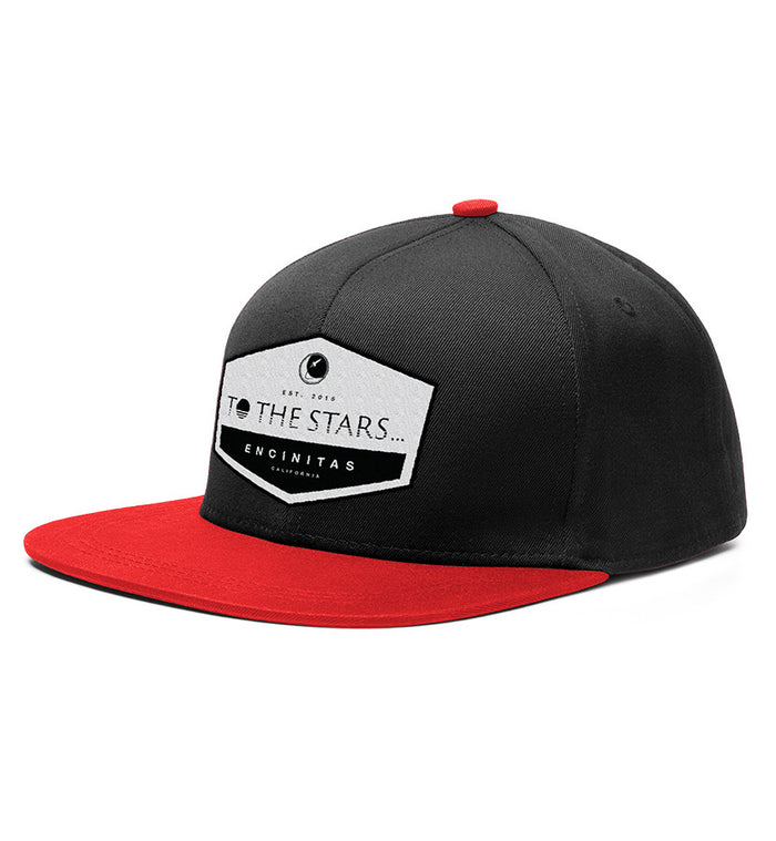 To The Stars... Established Patch Snapback Hat Black/Red - To The Stars...