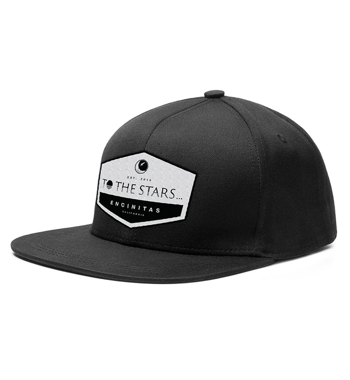 To The Stars... Established Patch Snapback Hat Black - To The Stars...