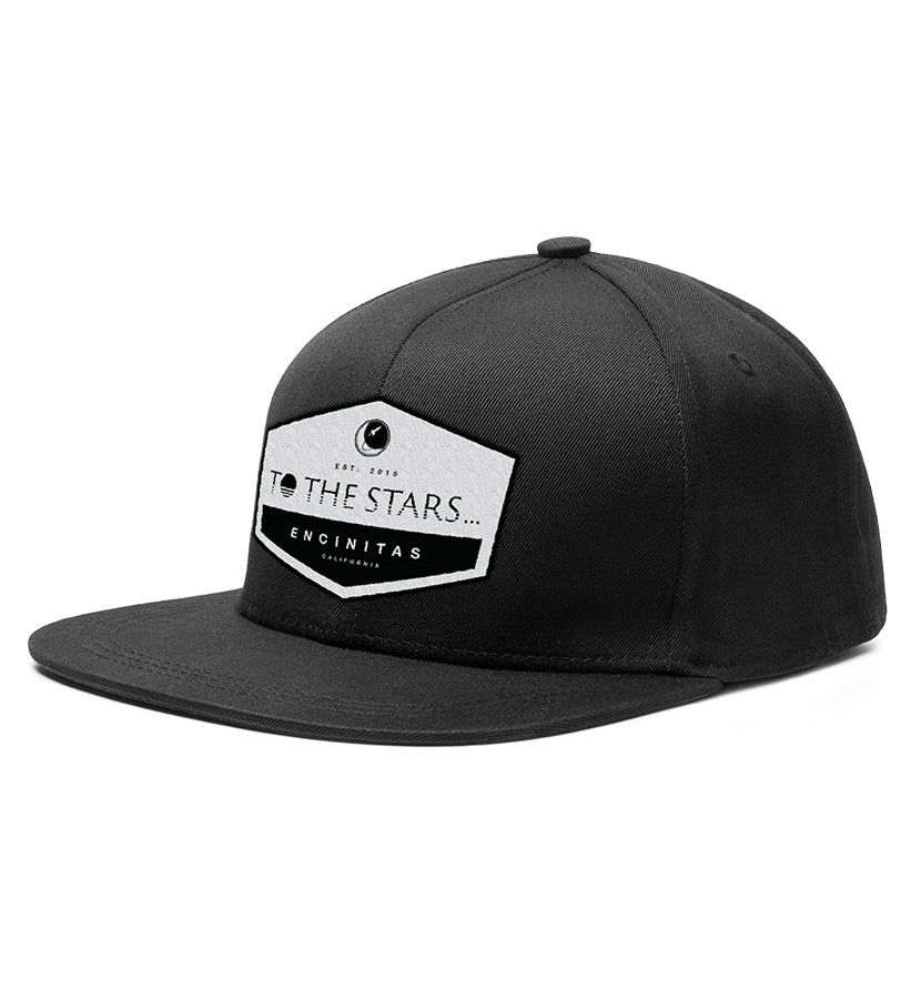 To The Stars... Established Patch Snapback Hat Black