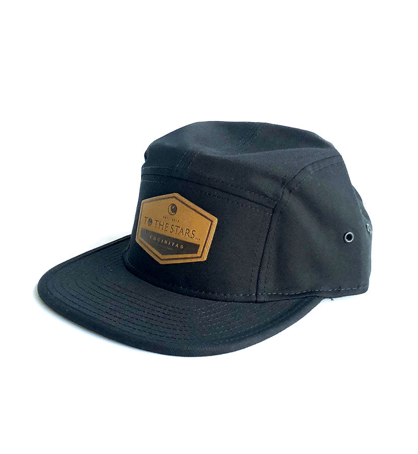 Established Suede Patch 5-Panel Hat Black