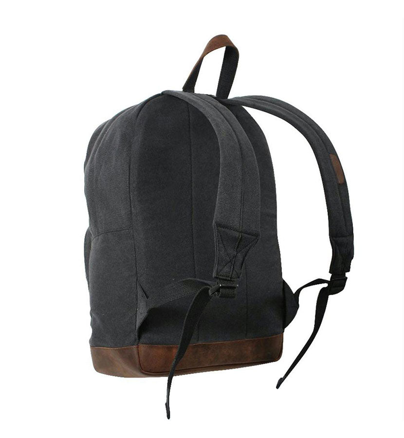 Established Suede Patch Backpack Black