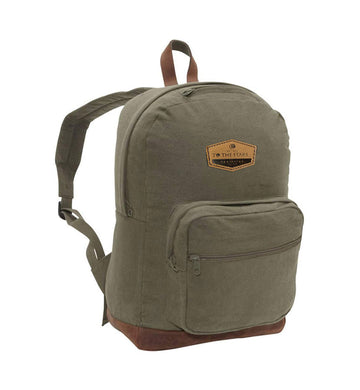 Established Suede Patch Backpack Olive