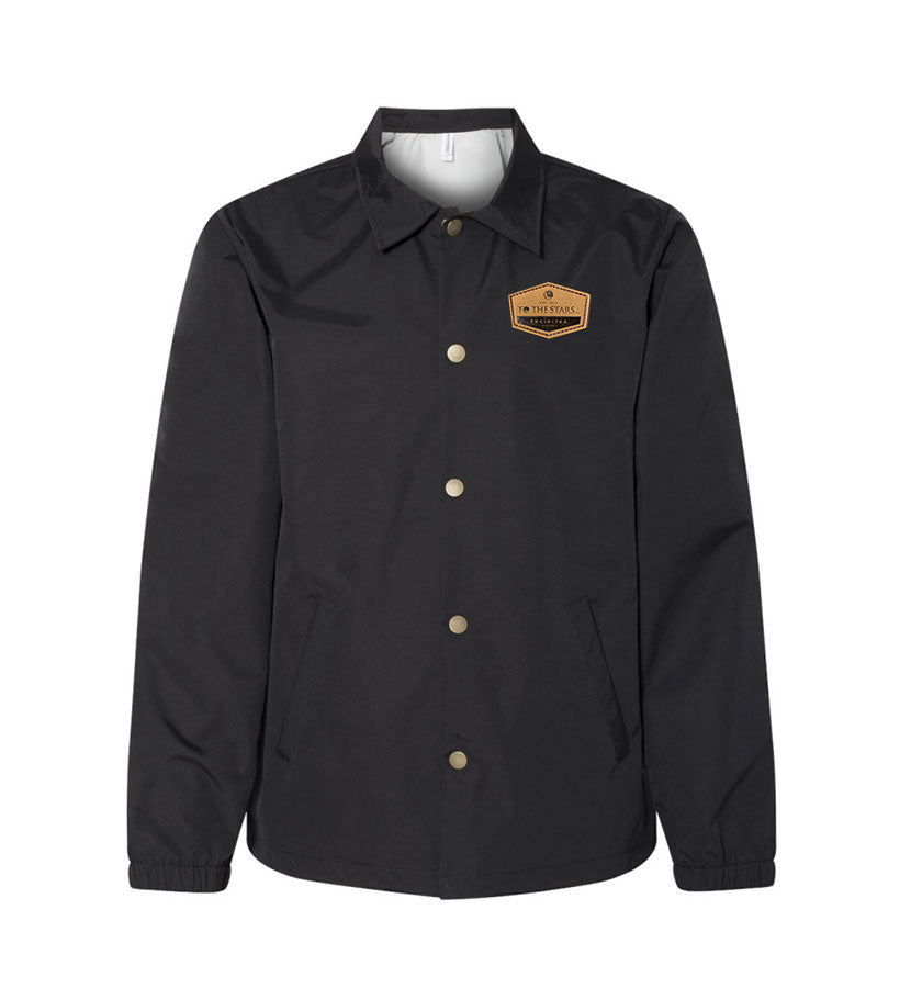 Established Suede Patch Coaches Jacket Black