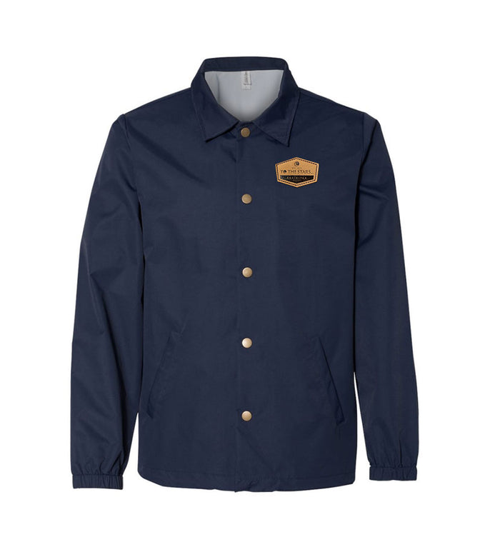 Established Suede Patch Coaches Jacket Navy