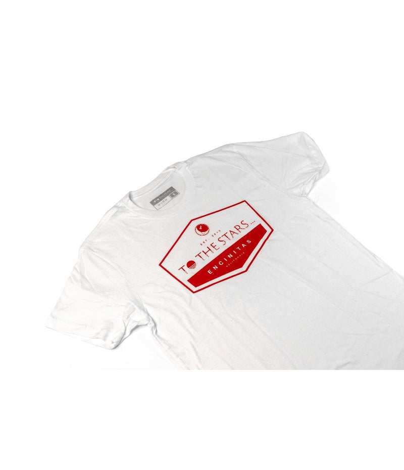 Established T-Shirt White/Red