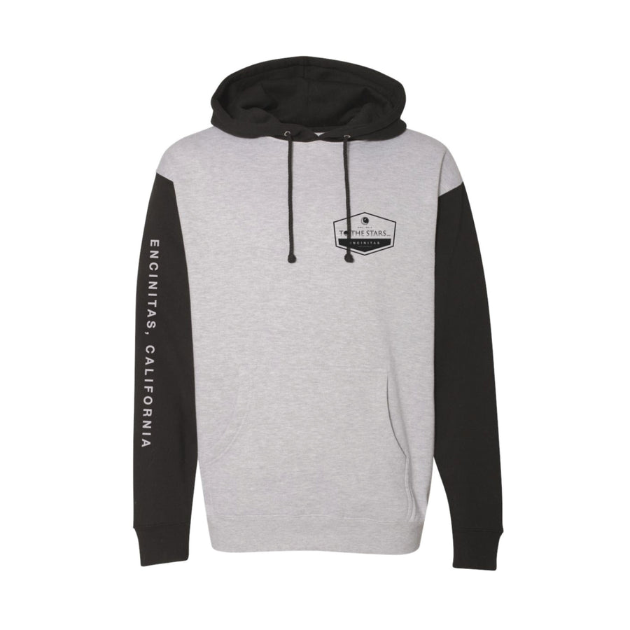 Established Unisex Pullover Hoodie Heather Grey/Black