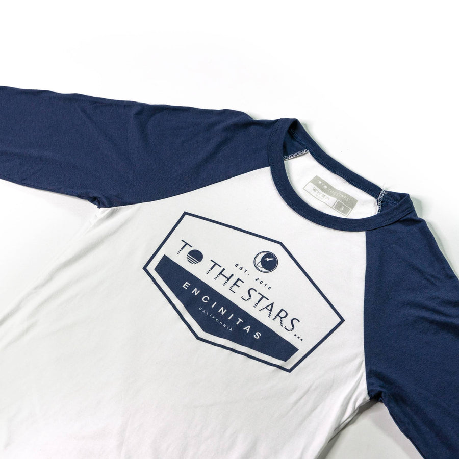 Established Unisex Raglan White/Navy