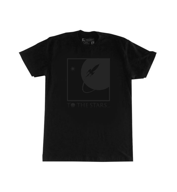 To The Stars... Full Icon Liquid Black T-Shirt Vintage Black - To The Stars...