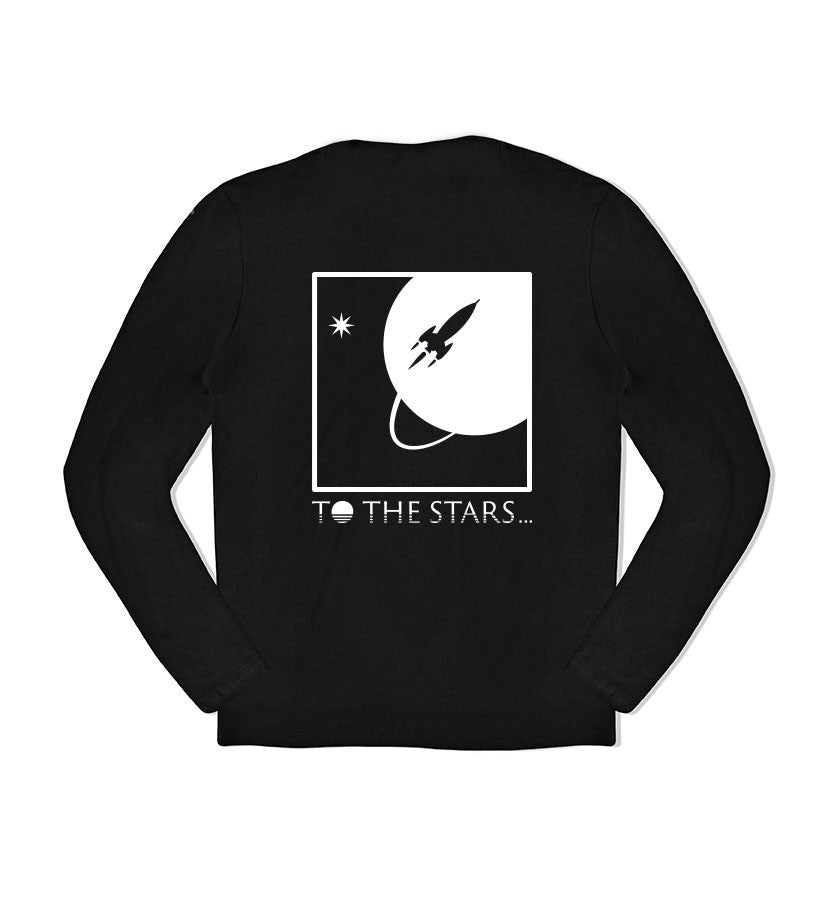 To The Stars... Full Icon L/S T-Shirt Black Back - To The Stars...