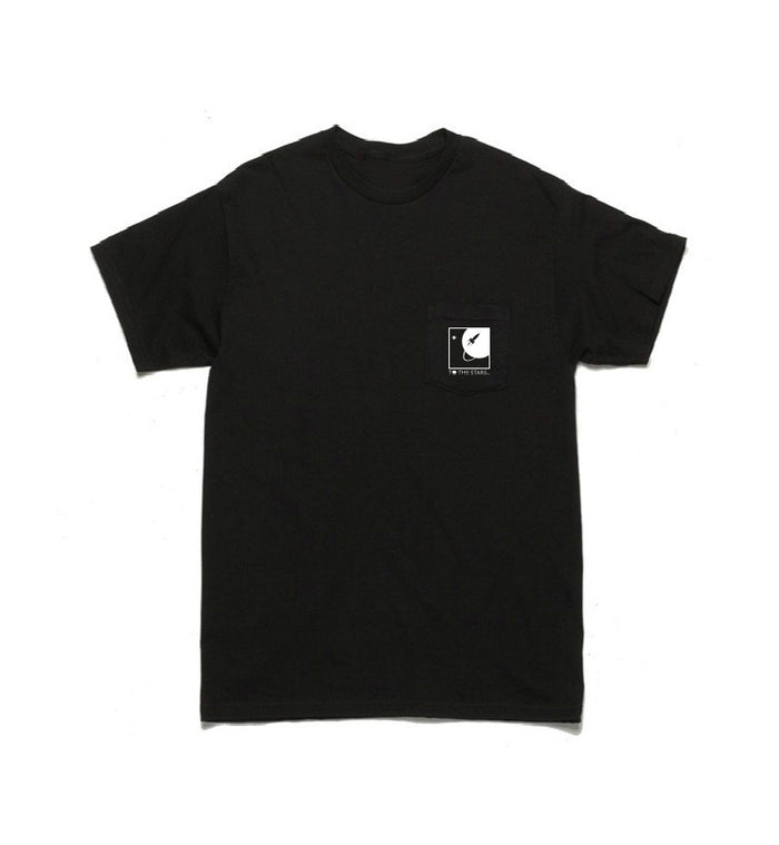 To The Stars... Full Icon Pocket T-Shirt Black/White - To The Stars...
