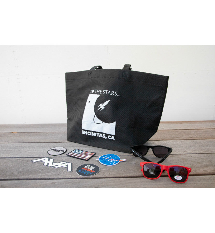 To The Stars... Full Icon Reuseable Shopping Bag Black/White - To The Stars...