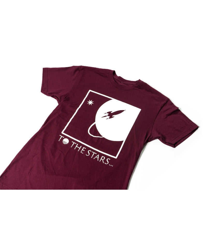 Full Icon T-Shirt Maroon/White