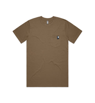 Full Icon Tag Pocket T-Shirt Brown