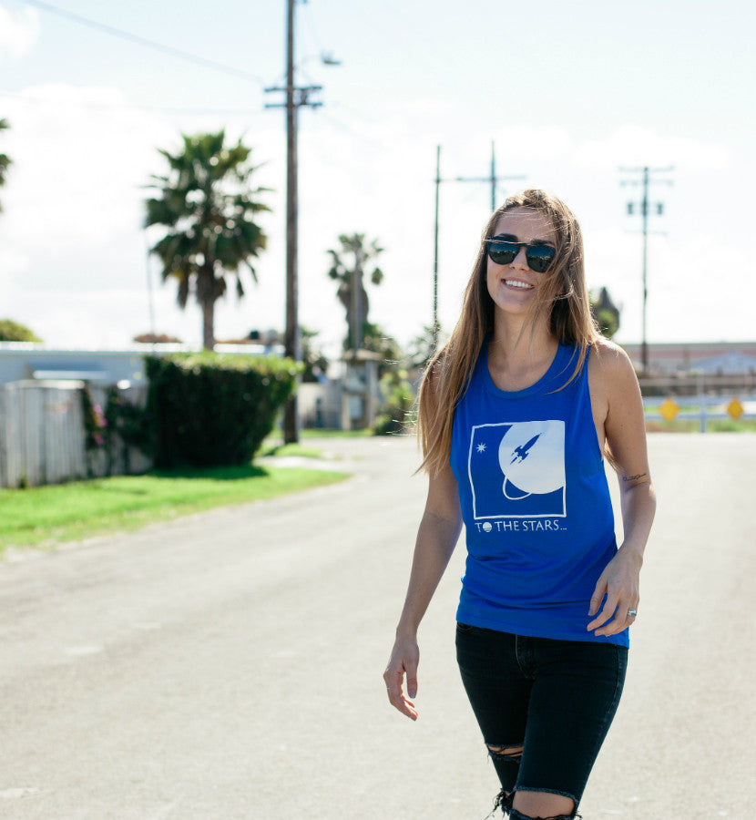 To The Stars... Full Icon Women's Muscle Tank True Royal - To The Stars...