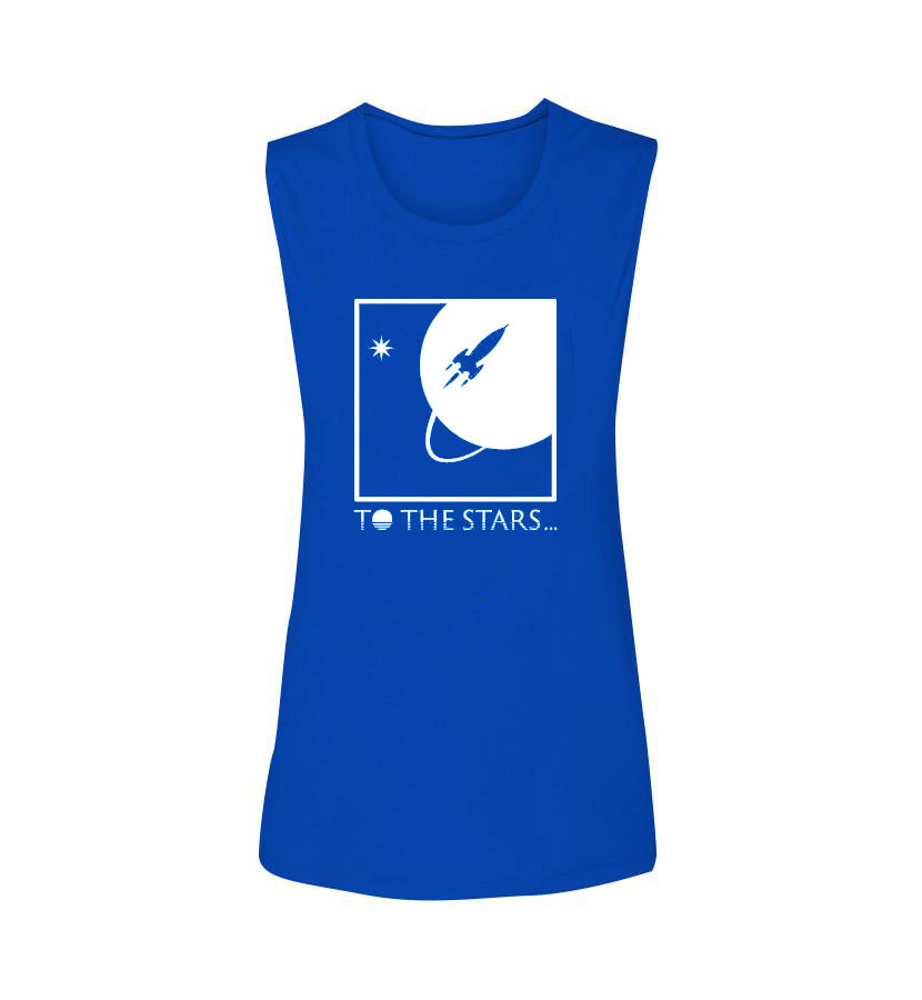 To The Stars Inc.-Full Icon Women's Muscle Tank-True Royal-small-To The Stars...