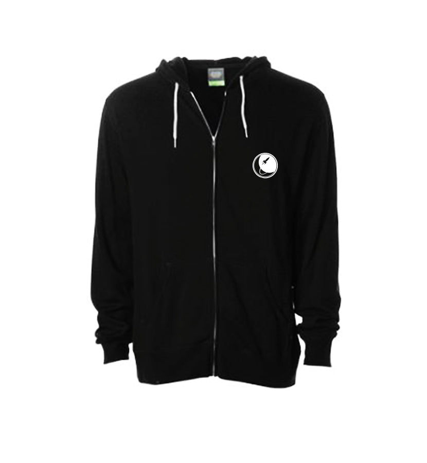 To The Stars... Full Icon Zip-Up Unisex Hoodie Black - front - To The Stars...