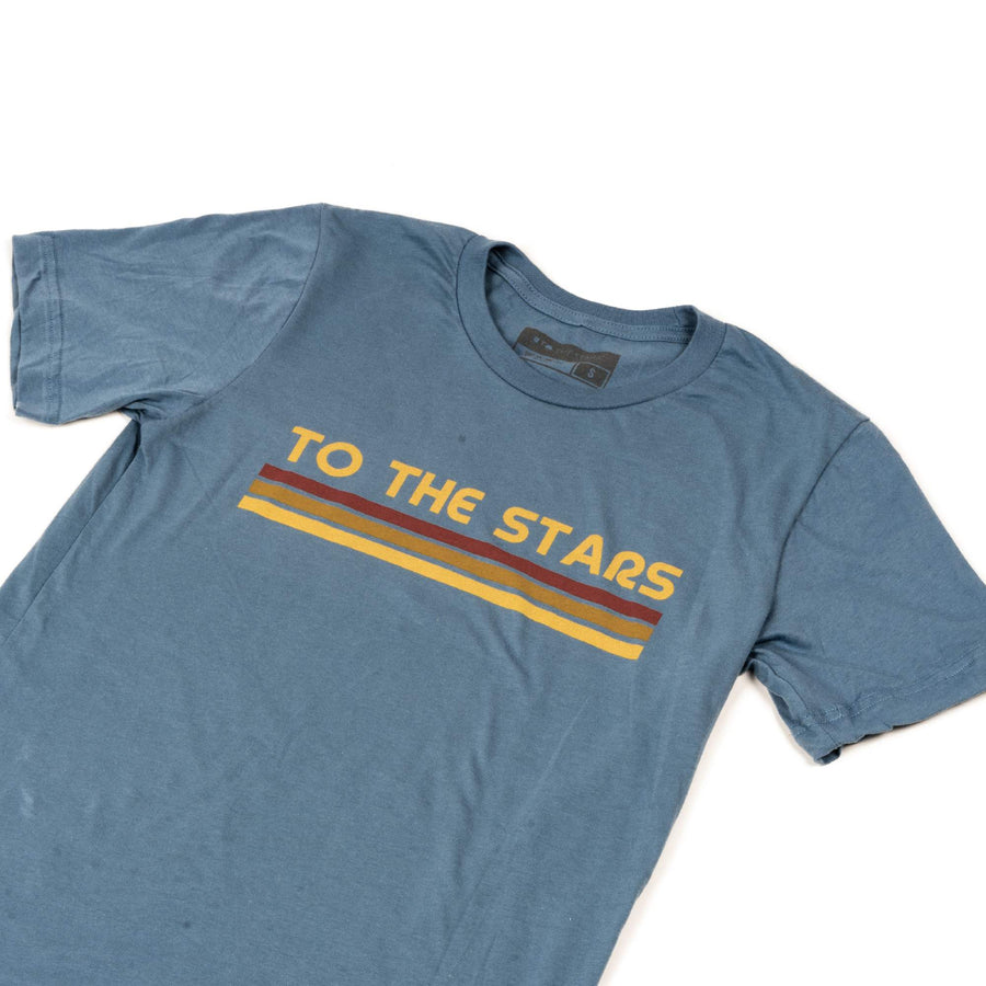 To The Stars Inc. Glitch Bars T-Shirt Steel Blue - To The Stars...