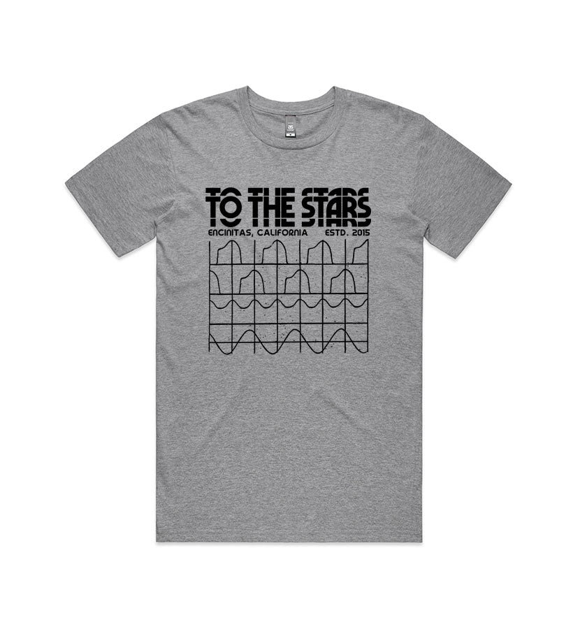 To The Stars... Glitch Graph T-Shirt Athletic Heather